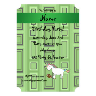 Personalized name football green squares card