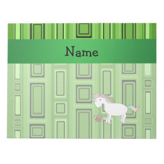 Personalized name football green squares scratch pad