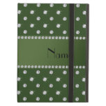 Personalized name forest green diamonds iPad folio cases