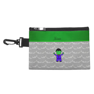Personalized name frankenstein grey bats accessory bags