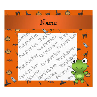 Personalized name frog halloween pattern photographic print