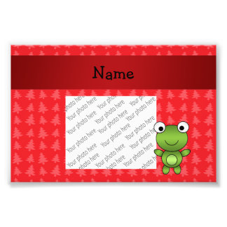 Personalized name frog red christmas trees photo