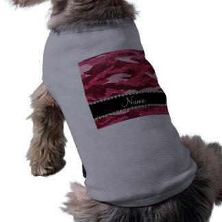 Personalized name fuchsia pink glitter camouflage dog clothing