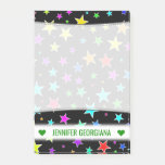 [ Thumbnail: Personalized Name; Fun, Colorful Stars Pattern Notes ]