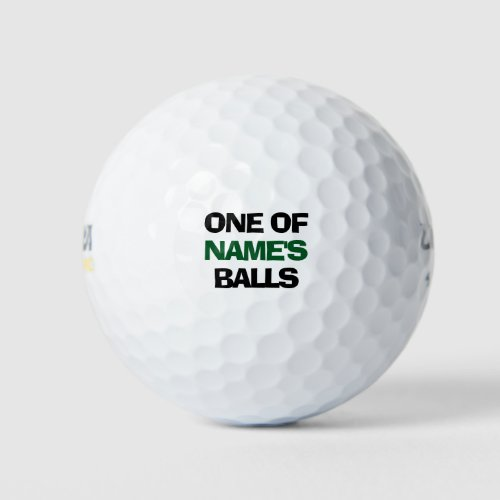 Personalized Name Funny Golf Balls
