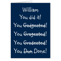 Personalized Name Funny Graduation Congratulations Card