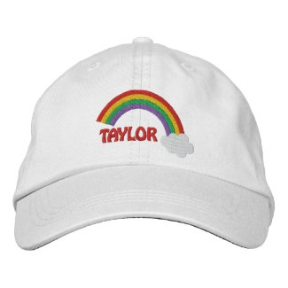 Personalized Name Gay Pride Rainbow Embroidered Baseball Cap