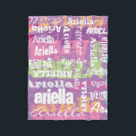 """Personalized Name Girls Blanket<br><div class=""""desc"""">Customize this blanket with a name or short phrase.</div>"""