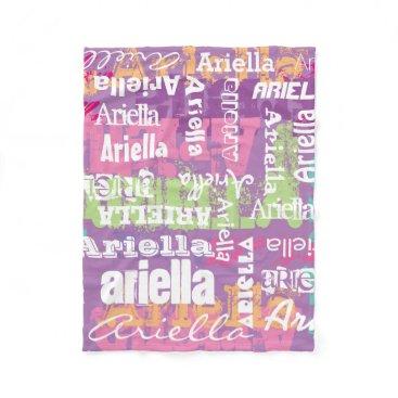 adams_apple Personalized Name Girls Blanket