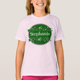Personalized Name Girl's St. Patrick's Day T-Shirt