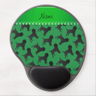 Personalized name green affenpinscher dogs gel mouse pad