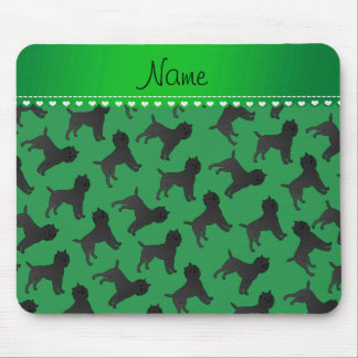 Personalized name green affenpinscher dogs mouse pad