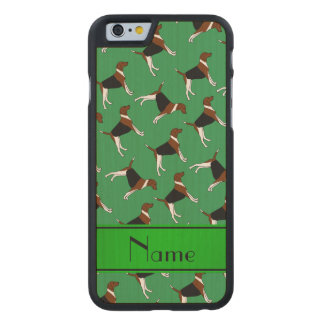 Personalized name green american foxhound dogs carved® maple iPhone 6 case