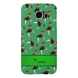 Personalized name green american foxhound dogs samsung galaxy s6 cases