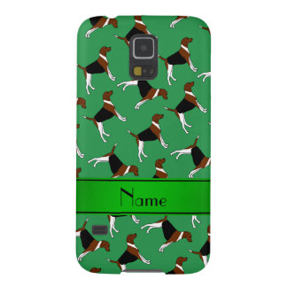 Personalized name green american foxhound dogs galaxy s5 covers
