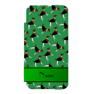 Personalized name green american foxhound dogs incipio watson™ iPhone 5 wallet case