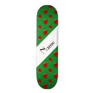 Personalized name green apples skate board deck