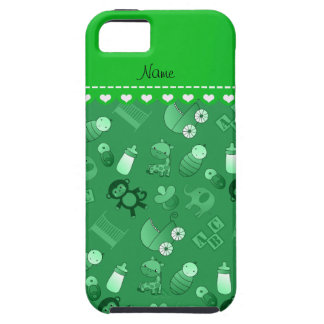 Personalized name green baby animals iPhone SE/5/5s case