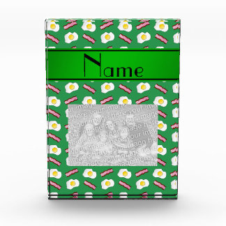 Personalized name green bacon eggs award