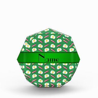 Personalized name green bacon eggs awards