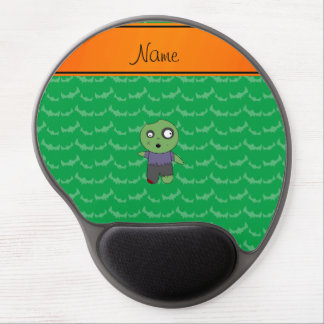 Personalized name green bats zombie gel mouse pad