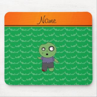 Personalized name green bats zombie mousepads