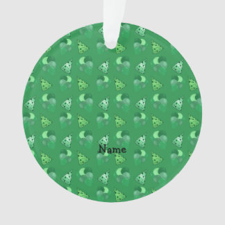 Personalized name green birthday pattern