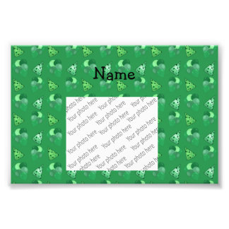 Personalized name green birthday pattern photograph