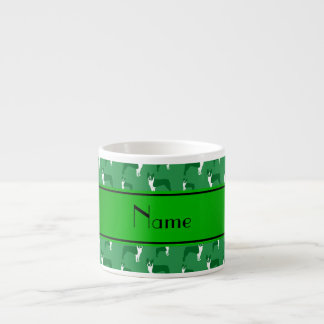 Personalized name green boston terrier 6 oz ceramic espresso cup