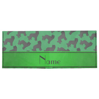 Personalized name green Briard dog Tyvek Wallet