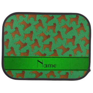 Personalized name green brussels griffon dogs car floor mat
