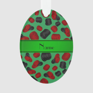 Personalized name green checkers game