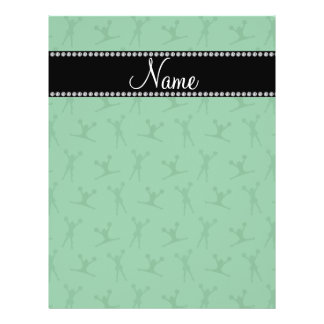 Personalized name green cheerleader pattern flyer design