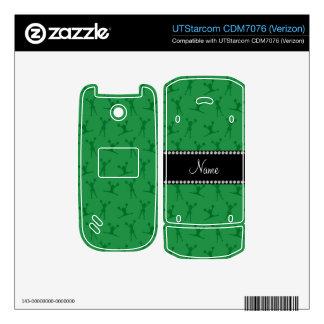 Personalized name green cheerleader pattern UTStarcom phone decal