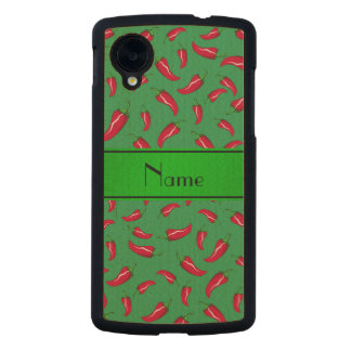 Personalized name green chili pepper carved® maple nexus 5 case