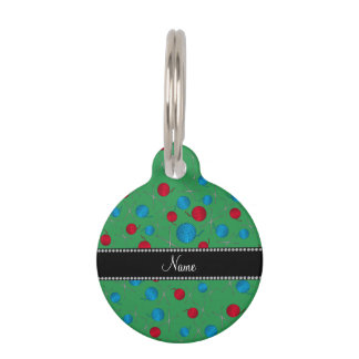 Personalized name green crochet pattern pet name tag
