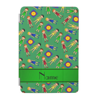 Personalized name green cute boy wrestlers mat iPad mini cover
