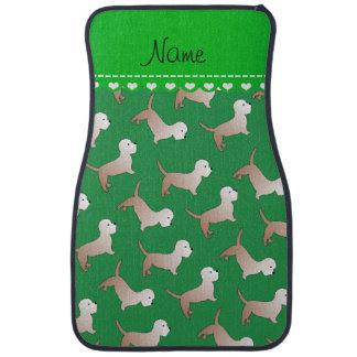 Personalized name green dandie dinmont terriers car floor mat