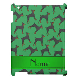 Case Savvy Glossy Finish iPad Case with Doberman Pinscher Phone Cases design