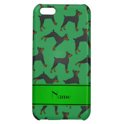 Case Savvy Matte Finish iPhone 5C Case with Doberman Pinscher Phone Cases design