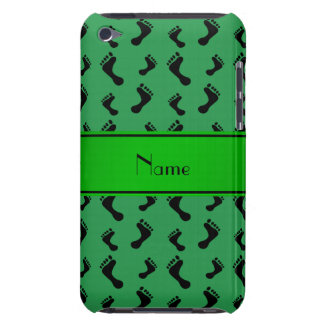 Personalized name green feet barely there iPod covers