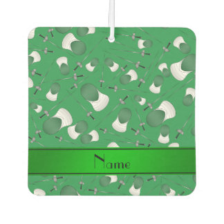 Personalized name green fencing pattern