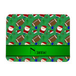 Personalized name green football christmas vinyl magnets