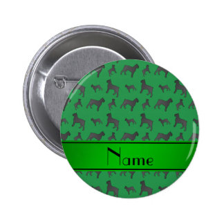 Personalized name green Giant Schnauzer dogs 2 Inch Round Button