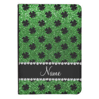Personalized name green glitter shamrocks kindle touch case