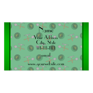 Personalized name green  gold mining Double-Sided standard business cards (Pack of 100)