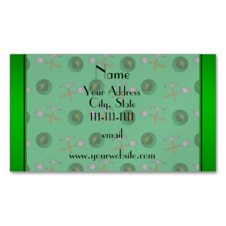 Personalized name green  gold mining magnetic business cards (Pack of 25)