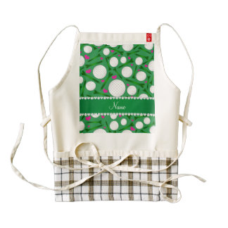 Personalized name green golf balls tees hearts zazzle HEART apron