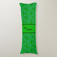 Personalized name green green pickles body pillow