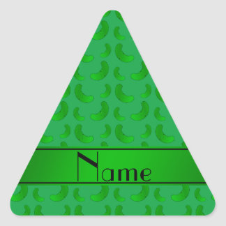 Personalized name green green pickles sticker